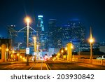 Los Angeles Cityscape At The...