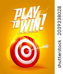 play to win  vector quote card... | Shutterstock .eps vector #2039338028