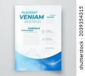 flyer cover design template... | Shutterstock .eps vector #2039354315