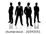 black and white group of people | Shutterstock . vector #20393551