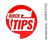 quick tips. symbol or emblem....   Shutterstock .eps vector #2039375732