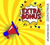 comic book explosion with text...   Shutterstock .eps vector #2039379818