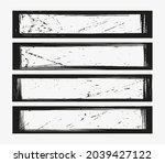 set of grunge frames ... | Shutterstock .eps vector #2039427122