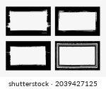set of grunge frames ... | Shutterstock .eps vector #2039427125