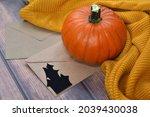 Halloween Orange Pumpkin And...