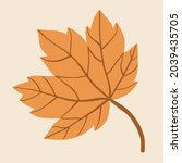 simplicity maple leaf freehand... | Shutterstock .eps vector #2039435705