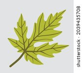 simplicity maple leaf freehand... | Shutterstock .eps vector #2039435708