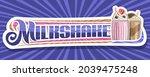 vector banner for milkshake ...   Shutterstock .eps vector #2039475248