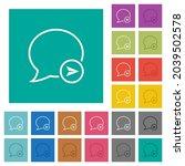 send message outline multi... | Shutterstock .eps vector #2039502578