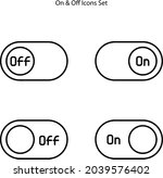 power off icons set isolated on ...