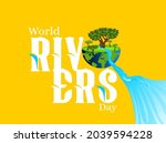 world rivers day. river day... | Shutterstock .eps vector #2039594228