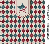 usa design over vintage... | Shutterstock .eps vector #203963632