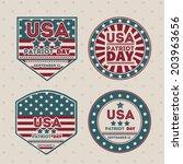 usa design over vintage... | Shutterstock .eps vector #203963656