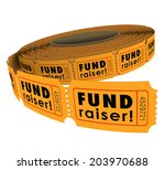 fund raiser words roll fifty... | Shutterstock . vector #203970688