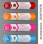 hexagon modern text box... | Shutterstock .eps vector #203974378