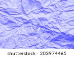 purple crumpled paper... | Shutterstock . vector #203974465