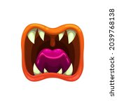 monster mouth  vector creepy...   Shutterstock .eps vector #2039768138