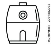 cooking fry appliance icon...
