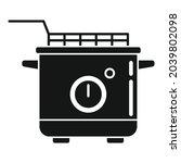 deep fryer equipment icon...