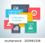 infographic or ui template with ...