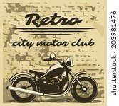 classic motorcycle club design... | Shutterstock . vector #203981476