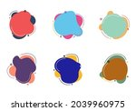 set of abstract colorful fluid...   Shutterstock .eps vector #2039960975