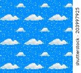 seamless vector cloud pattern... | Shutterstock .eps vector #203997925