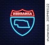 nebraska usa federal state map... | Shutterstock .eps vector #2039985122