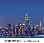 new york skyline with the... | Shutterstock . vector #204003616