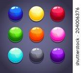 color bubblesballs set on the... | Shutterstock .eps vector #204006376