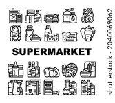 supermarket selling department...   Shutterstock .eps vector #2040069062