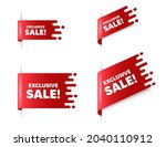 exclusive sale text. red ribbon ... | Shutterstock .eps vector #2040110912