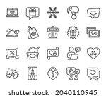 vector set of snowflake  sale... | Shutterstock .eps vector #2040110945