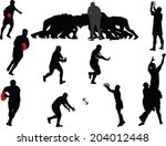 rugby players collection  ... | Shutterstock .eps vector #204012448