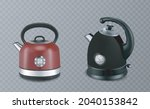 two stainless steel red and... | Shutterstock .eps vector #2040153842