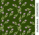 decorative wildflower seamless... | Shutterstock .eps vector #2040182582