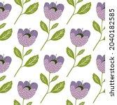 pretty vintage flowers seamless ... | Shutterstock .eps vector #2040182585