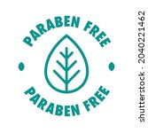 paraben free vector cosmetic... | Shutterstock .eps vector #2040221462