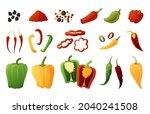 bell pepper. cartoon organic...   Shutterstock .eps vector #2040241508
