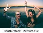 summer  holidays  vacation ... | Shutterstock . vector #204026512