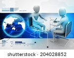 business people in discussion | Shutterstock . vector #204028852