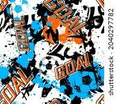 abstract seamless football...   Shutterstock .eps vector #2040297782