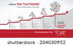 financial growth | Shutterstock .eps vector #204030952