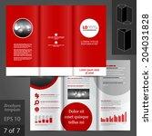 red vector brochure template...   Shutterstock .eps vector #204031828
