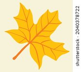 simplicity maple leaf freehand... | Shutterstock .eps vector #2040378722