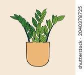 simplicity zanzibar gem plant... | Shutterstock .eps vector #2040378725