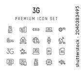 premium pack of 3g line icons....