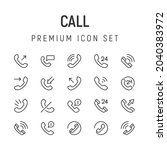 premium pack of call line icons....
