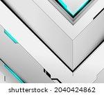 abstract white geometric... | Shutterstock .eps vector #2040424862