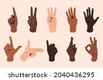 female hands. contemporary...   Shutterstock .eps vector #2040436295